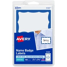Name Tags with Blue