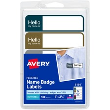 Flexible Name Tags,