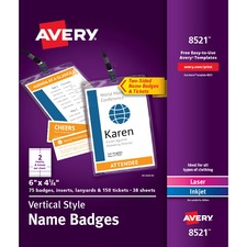 Vertical Name Badge